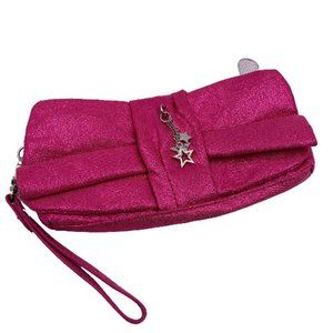 VS Sparkly Pink Bow Clutch with Star Charm